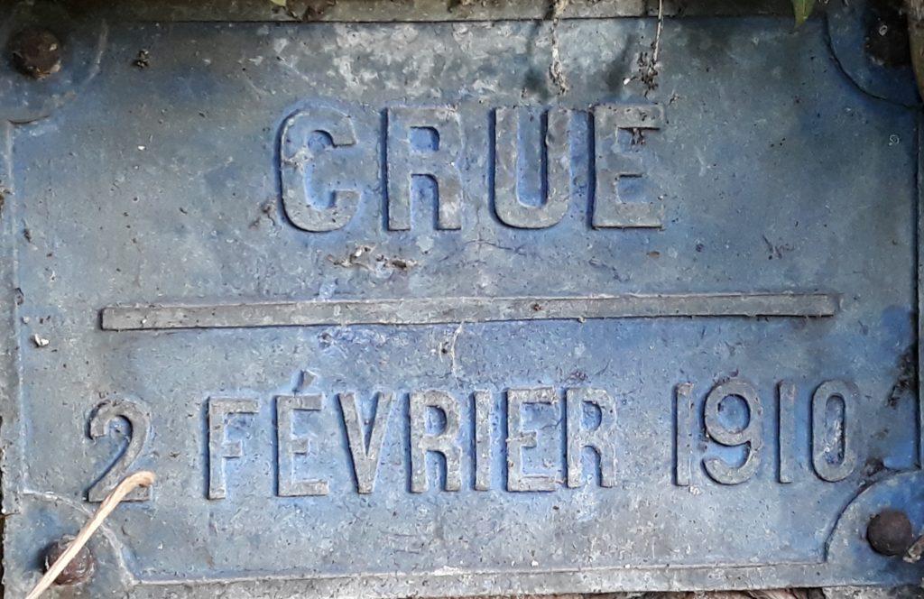 niveau crue 2 février 1910